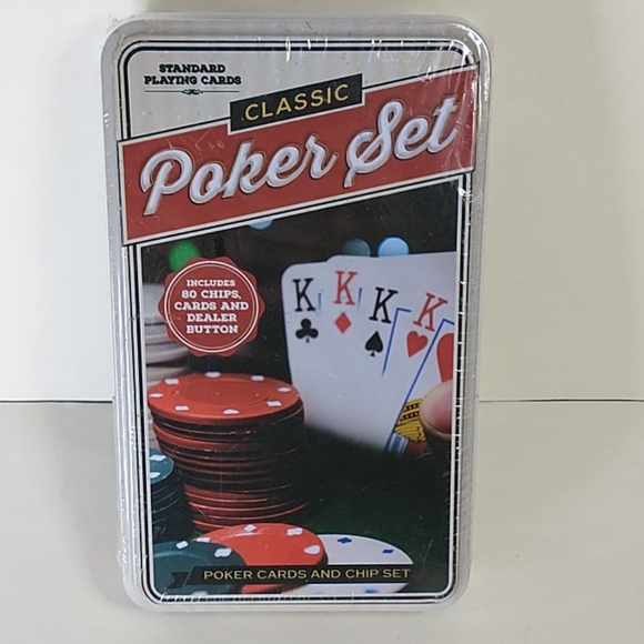 Classic Poker Set With Chips and Cards